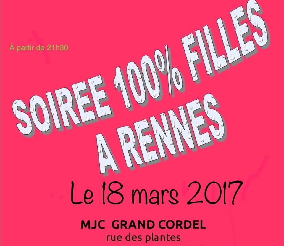 [FEE] Soirées 100% filles à Rennes le samedi 18 mars 2017