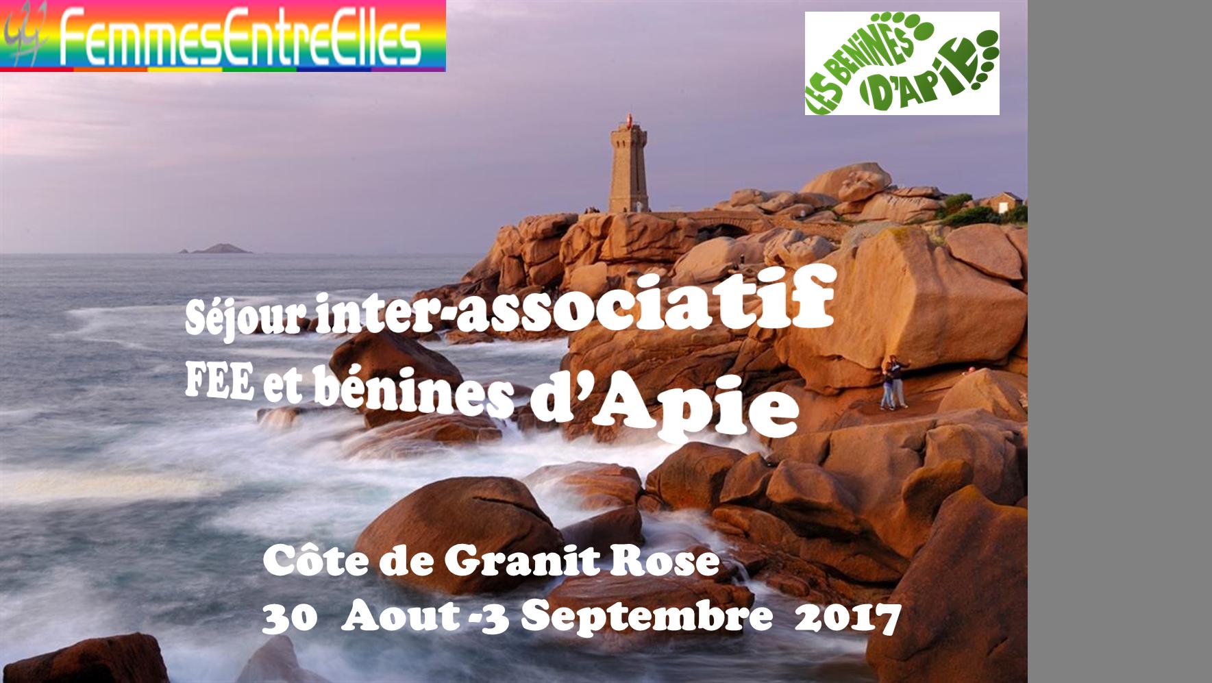 Séjour  inter-associatif des FEEs et Bénines d'Apie sur la côte de Granit Rose du 30 Aout au 3 Septembre 2017