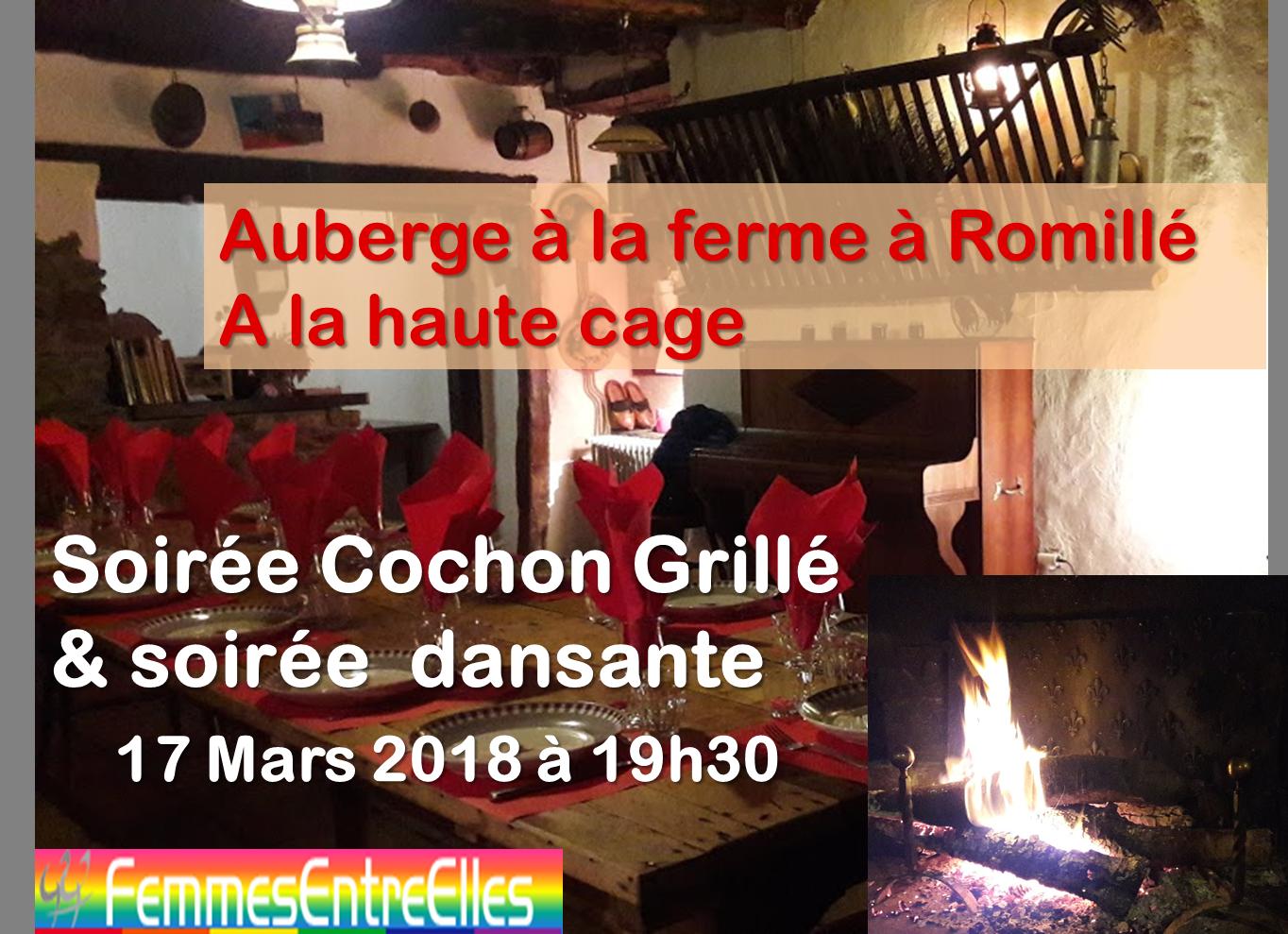 [FEE] 17 Mars 2018, soirée Cochon Grillé & danse à l'auberge à la ferme de Romillé
