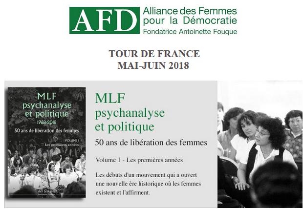 Tour de France du livre MLF Psychanalyse et politique 1968-2018