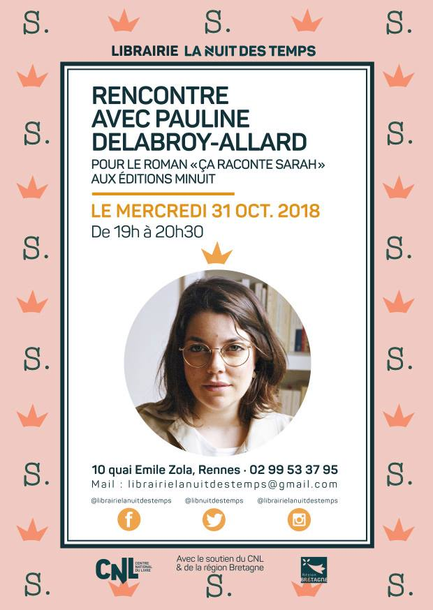 Rencontre littéraire le 31 octobre à la librairie  LNDT à Rennes