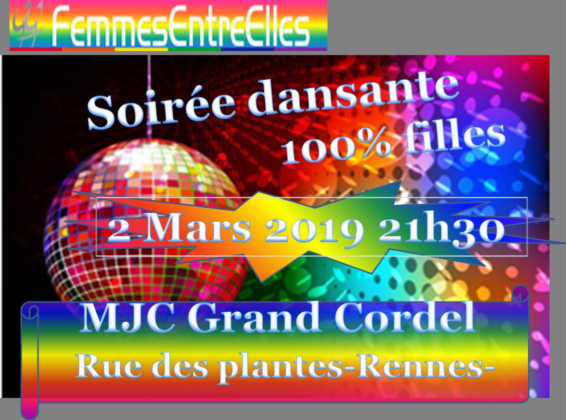 [FEE] : Fête Femmes le 2 Mars à la MJC du Grand Cordel à partir de 21h30