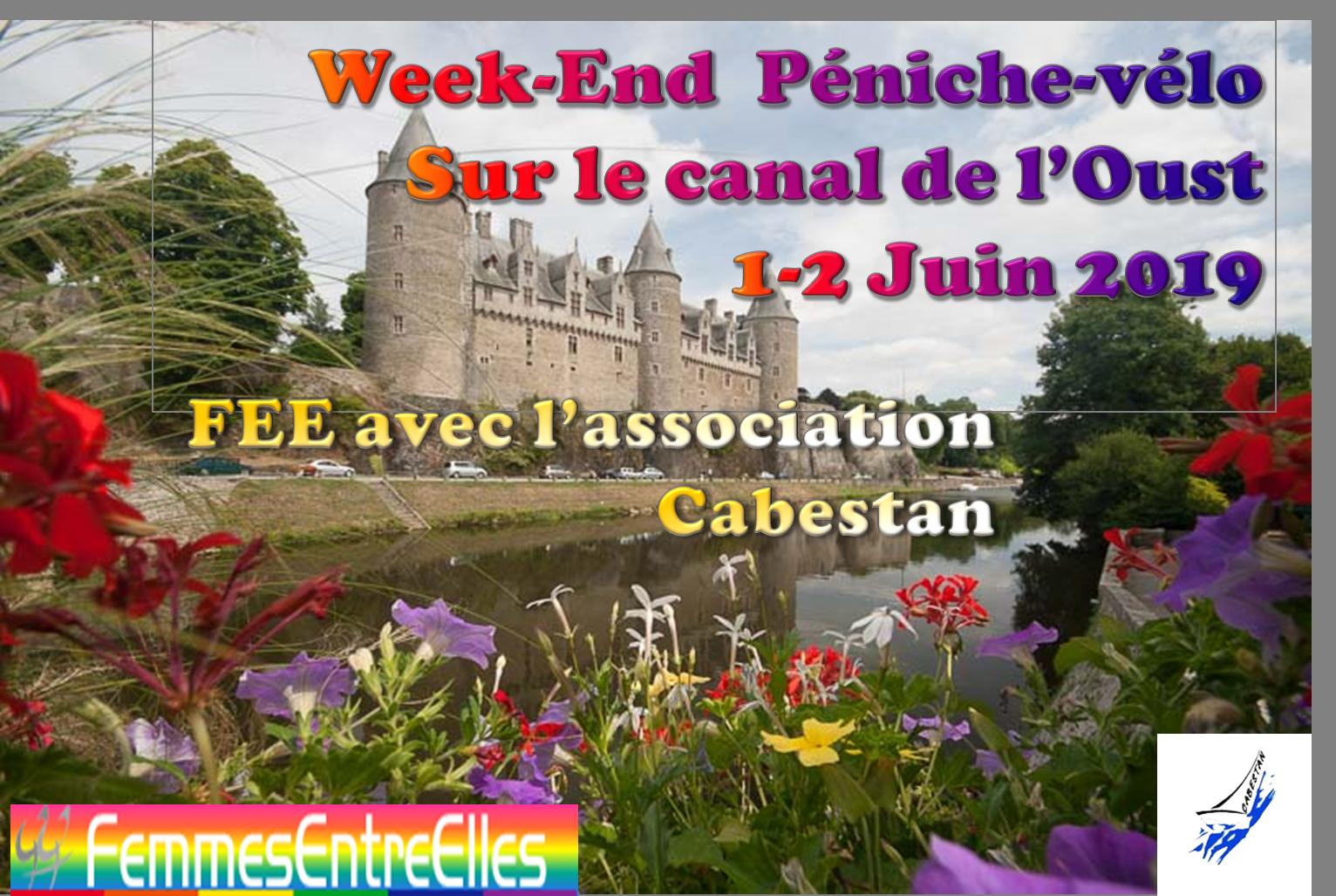 WE Péniche-Vélo sur le canal de l'Oust 1&2 juin 2019