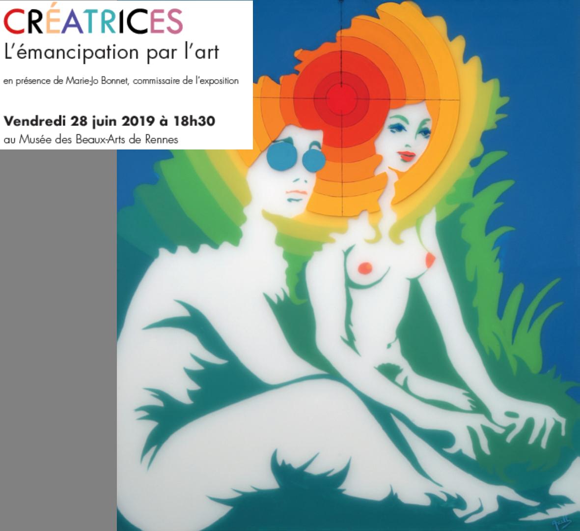 """Vernissage de l'exposition """"Créatrices, émancipation des femmes par l'art"""" le 28 Juin 2019 au musée des Beaux Arts de Rennes"""
