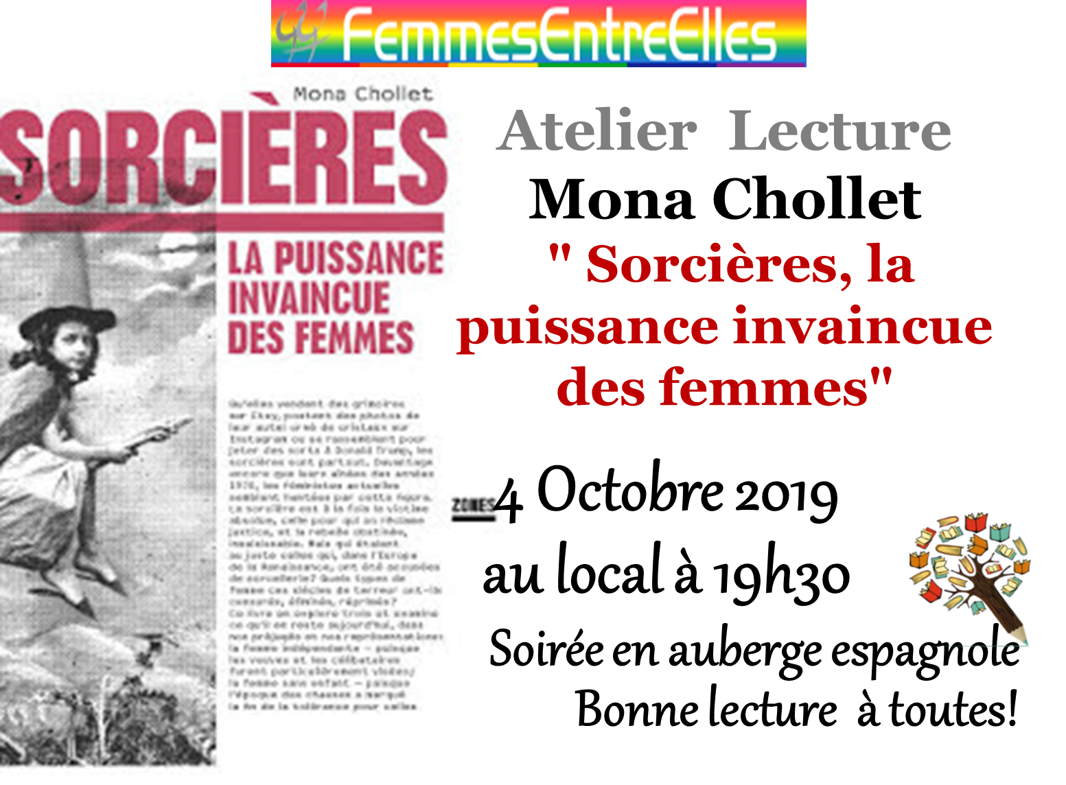 [FEE] : Atelier lecture le 4 Octobre 2019 au local à 19h30