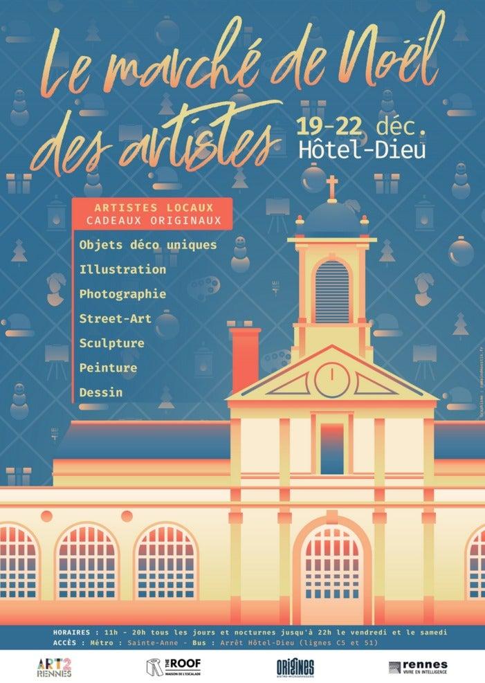 Marché de Noël des Artistes du 19 au 22 décembre 2019 à Rennes
