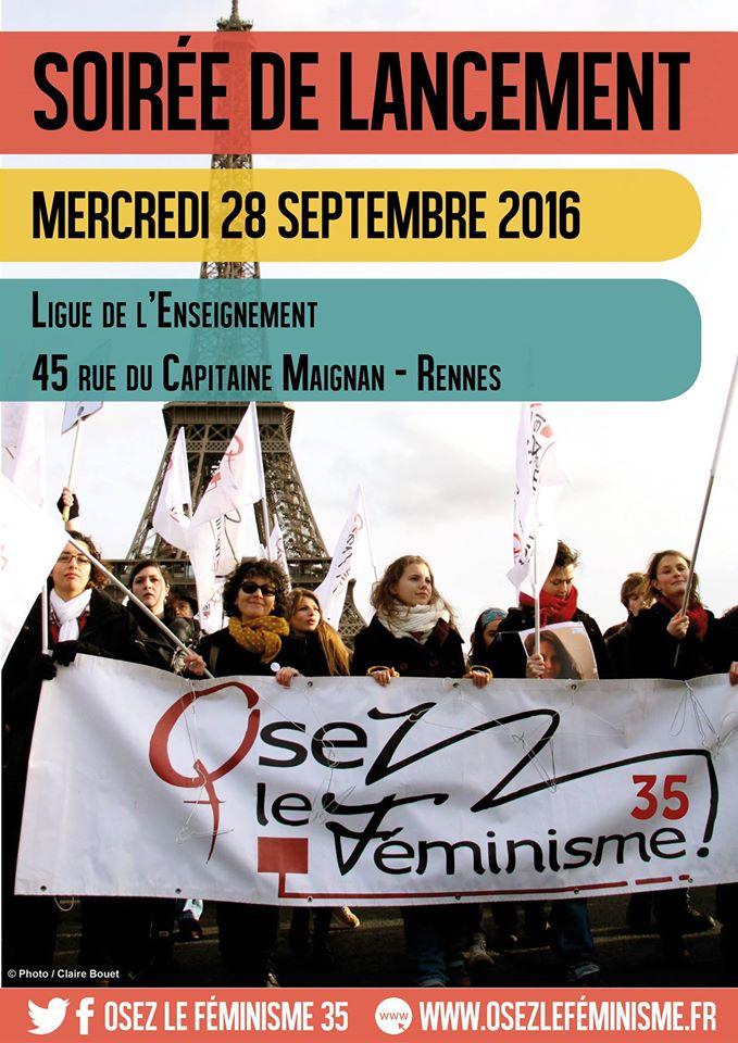 Une antenne locale d'« Osez le féminisme ! » s'installe à rennes.