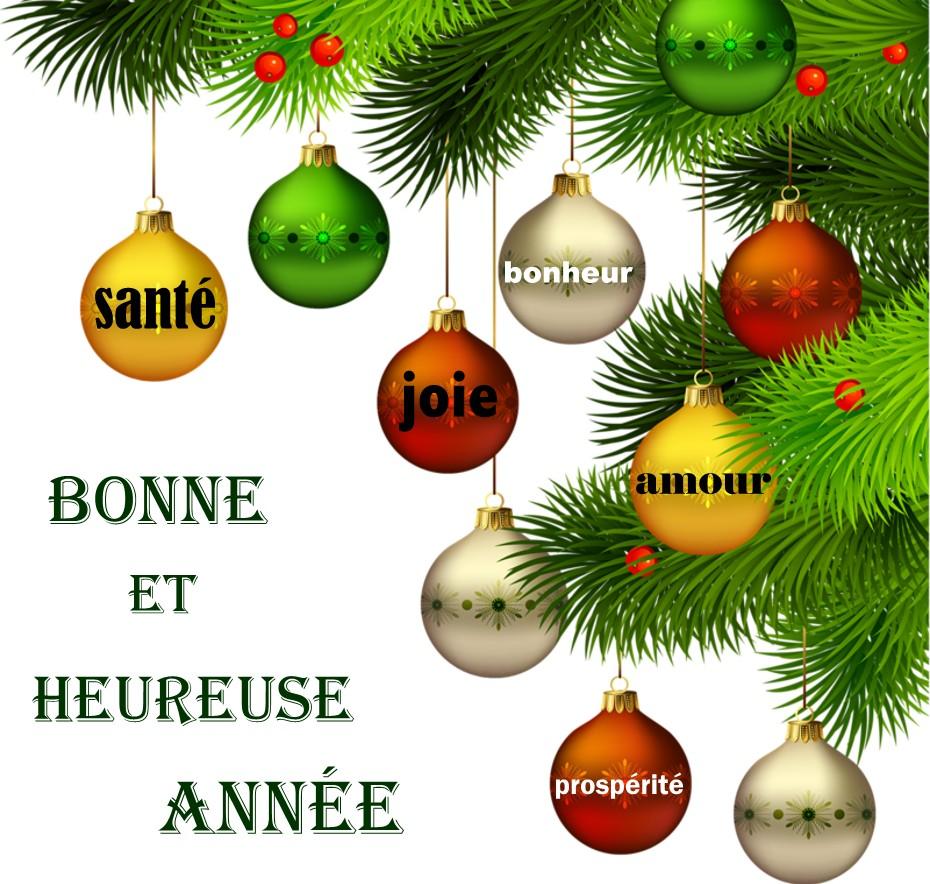 Bonne année à toutes...