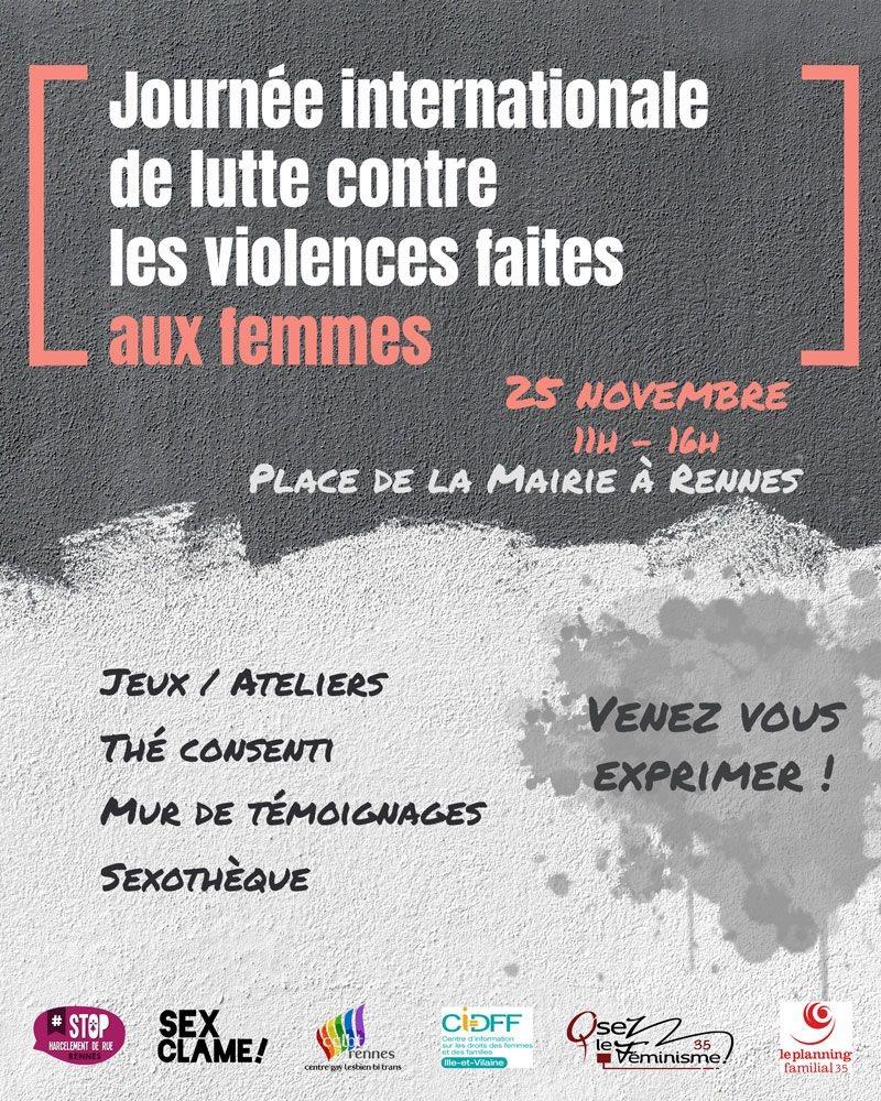 CONTRE LES VIOLENCES FAITES AUX FEMMES...