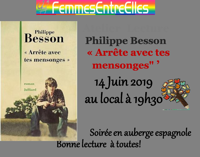 """[FEE] : Atelier lecture """"Arrête tes mensonges"""" le 14 Juin 2019"""