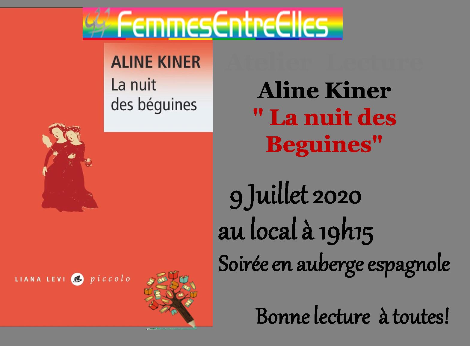 """[FEE] : Atelier lecture le 9 Juillet à 19h15 au local """"La nuit des Beguines"""""""