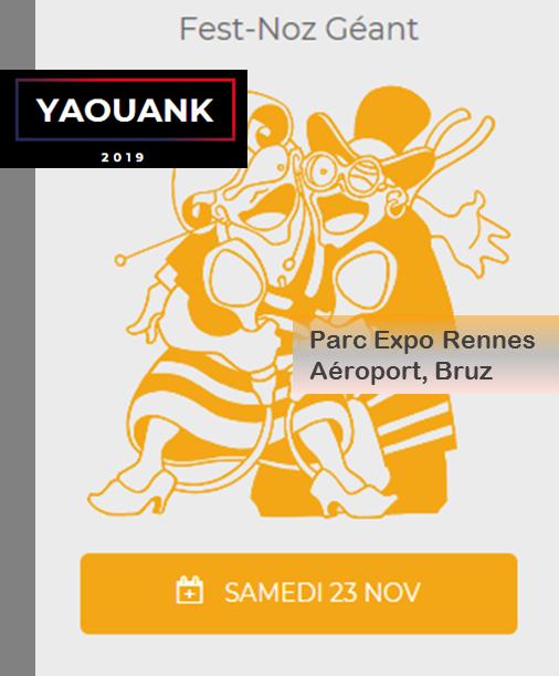 Fest-Noz Géant Yaouank à Rennes le 23 Novembre 2019