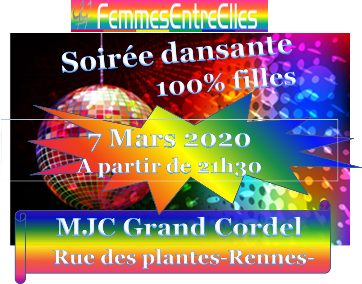 [FEE] : fête femmes soirée dansante le 7 Mars 2020 à la MJC le Grand Cordel