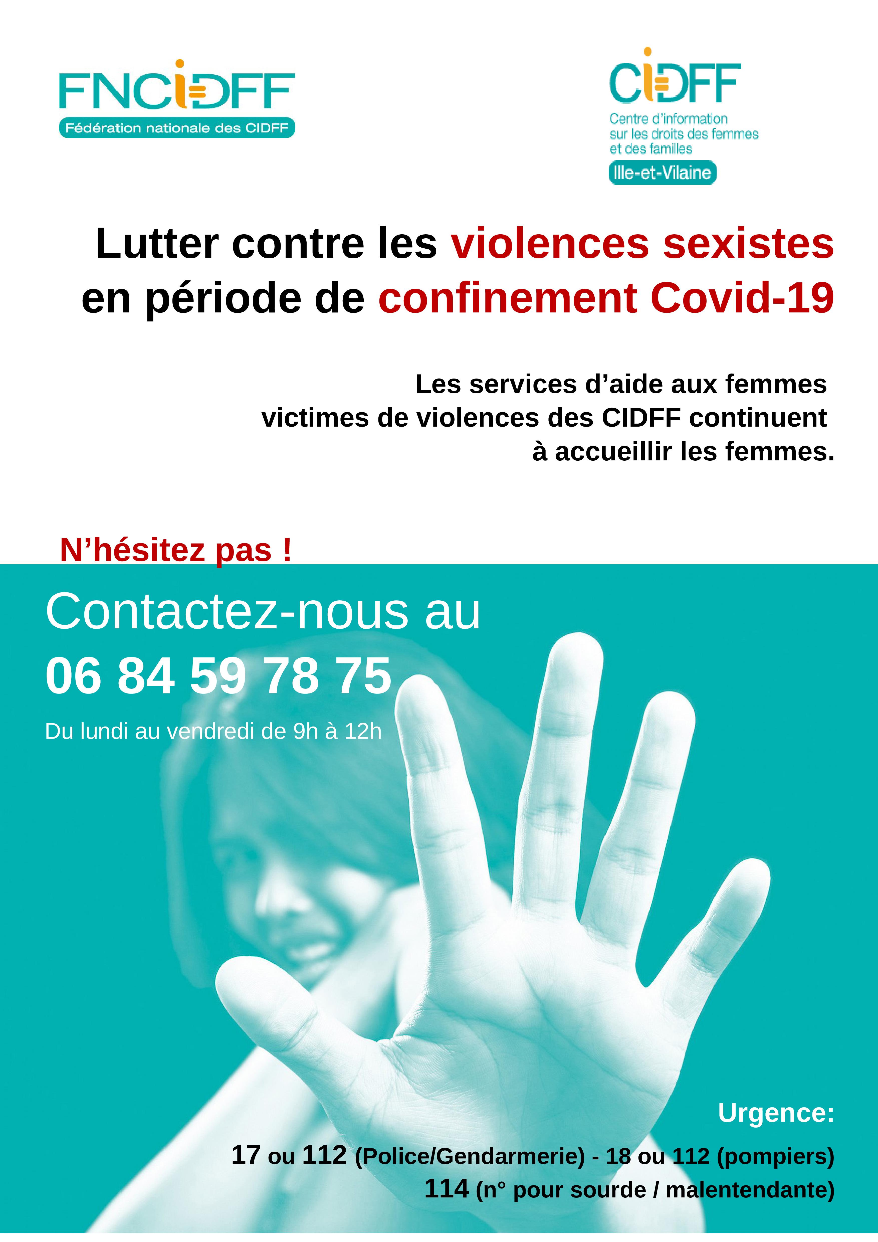 CIDFF35 - violences faites aux femmes et confinement-lignes de soutien