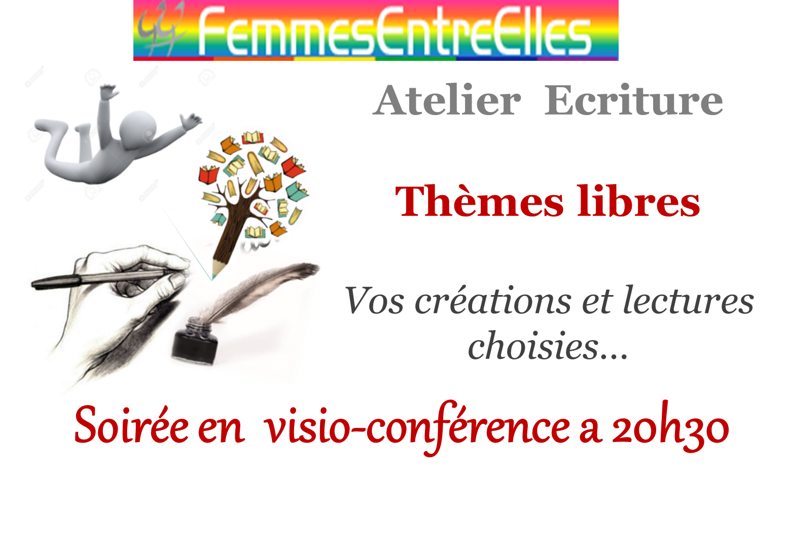 [FEE] : Atelier Ecriture mardi 30 juin  annulé & reporté en septembre