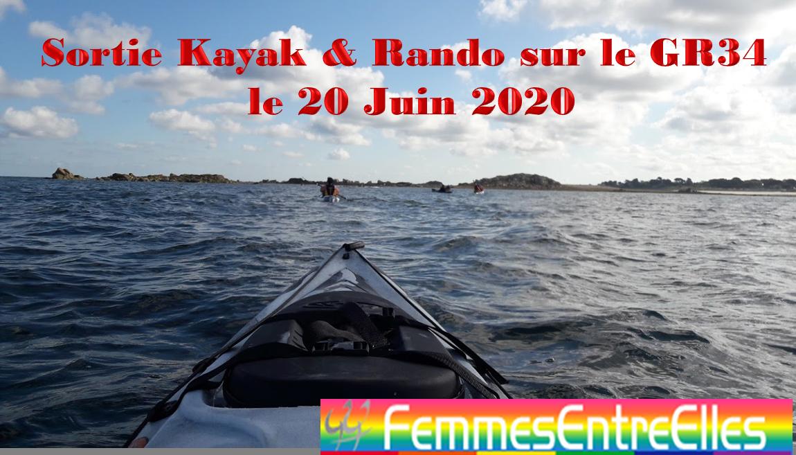 Sortie Kayak et Rando GR34 à La Vicomté-sur-Rance le 20 Juin 2020