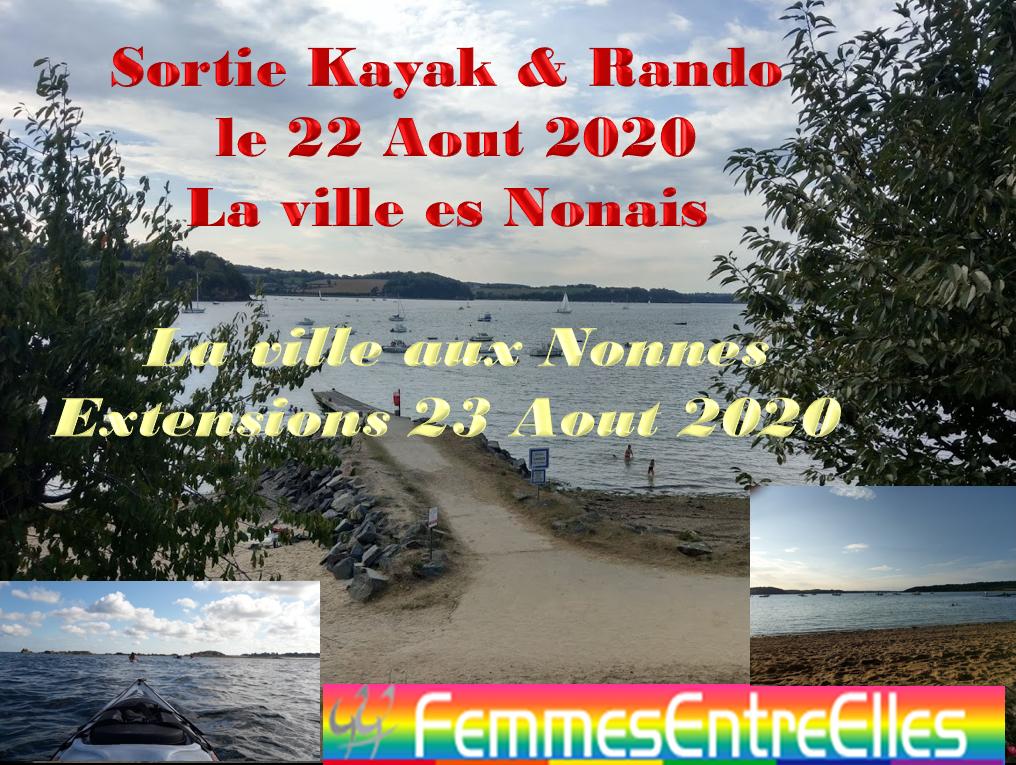 [FEE] : Journée rando, kayak farniente à la Ville Es Nonais sur la Rance le 22 Aout 2020