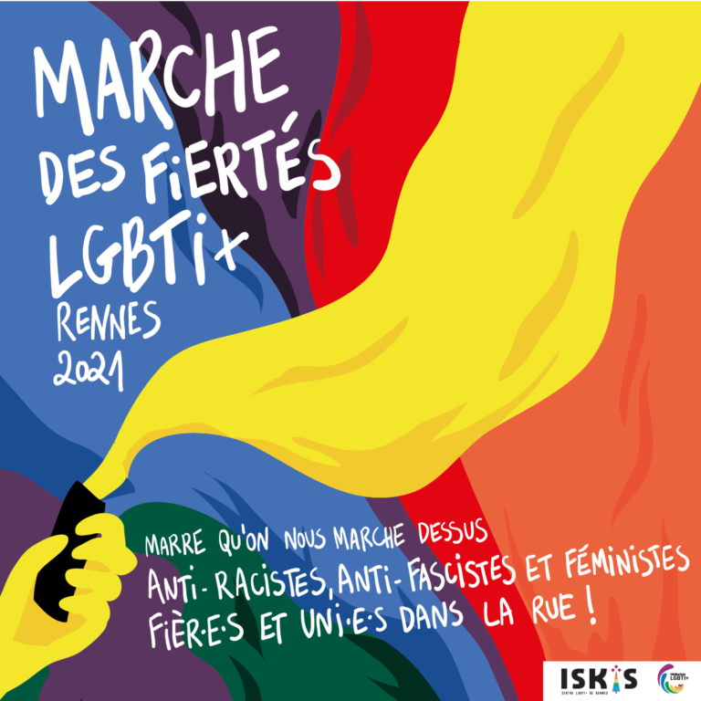 Marche des Fiertés à Rennes le 5 juin 2021 à 14h