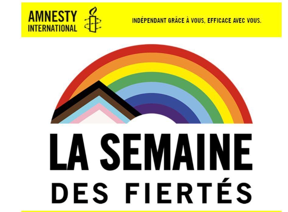 La semaine des fiertés, Amnesty international