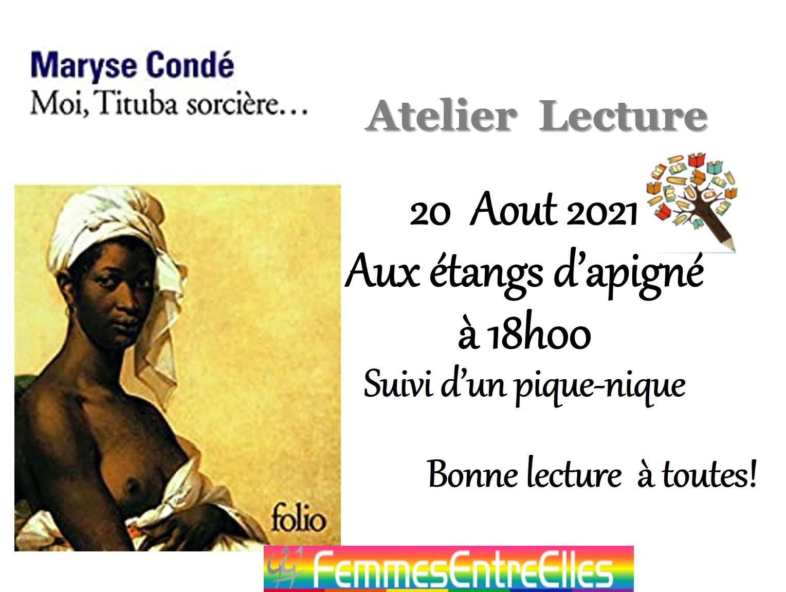 [FEE] Atelier lecture estival le 20 Aout 2021, 18h, Etangs d'Apigné